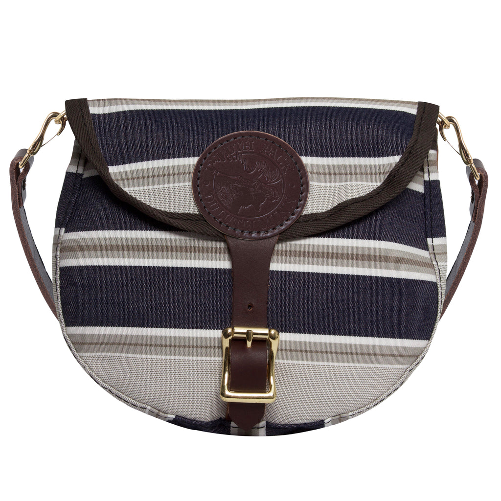Sunbrella® Small Shell Purse Bags Navy Taupe Fancy - Duluth Pack