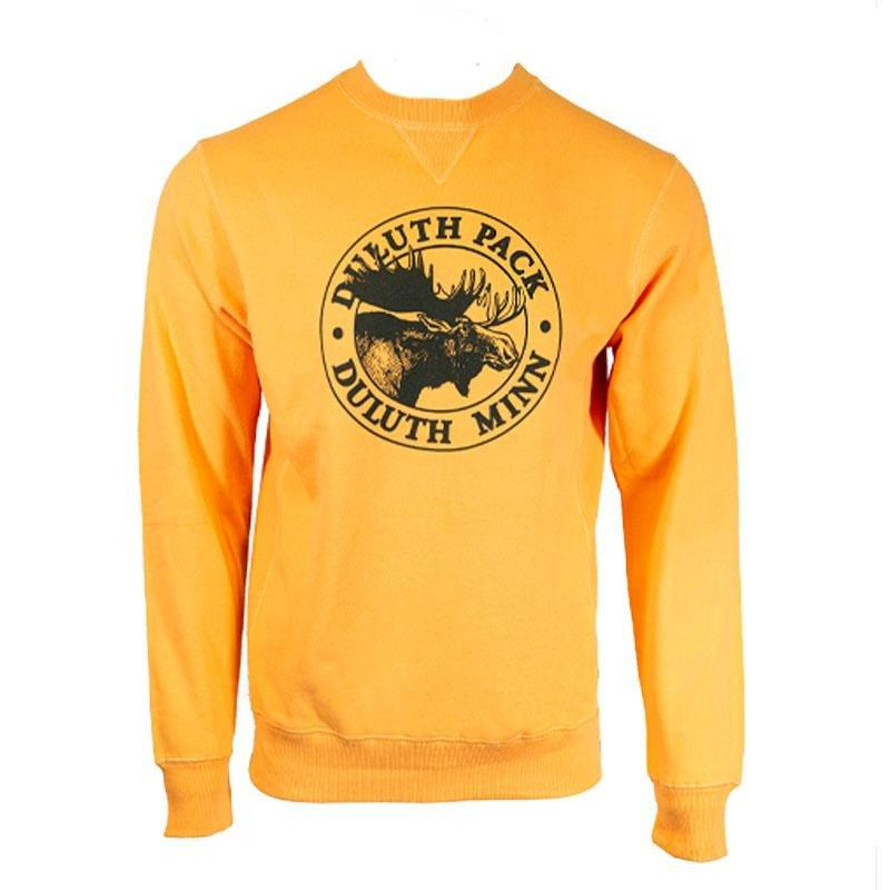 Duluth Pack Logo Crewneck Sweatshirt Gold - Final Sale / S - Duluth Pack Apparel