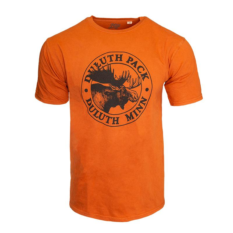 Duluth Pack Short Sleeved Logo T-Shirt Shirt Orange / Small - Duluth Pack Apparel