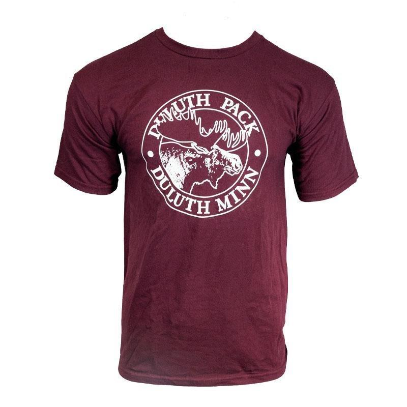 Duluth Pack Short Sleeved Logo T-Shirt Shirt Dark Maroon / Small - Duluth Pack Apparel