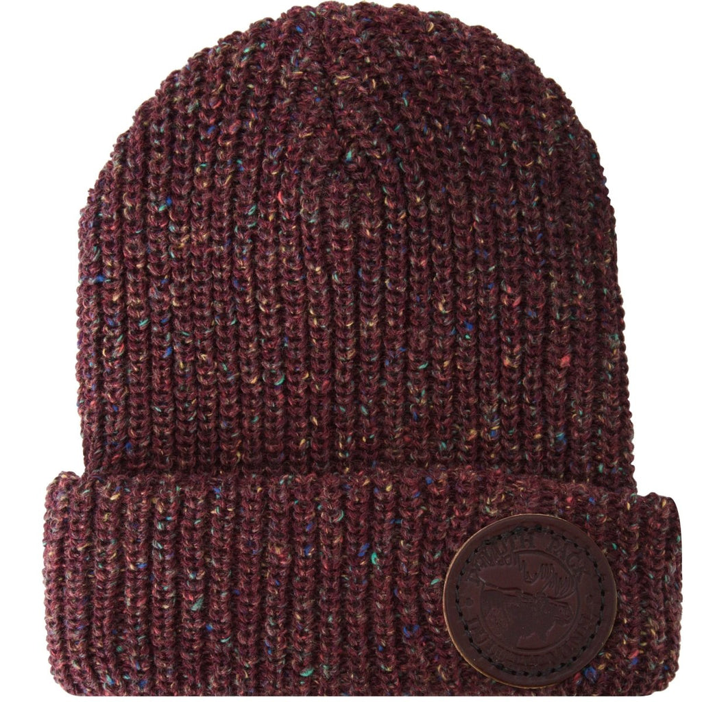 Fleck Logo Beanie Apparel Burgundy - Duluth Pack Apparel