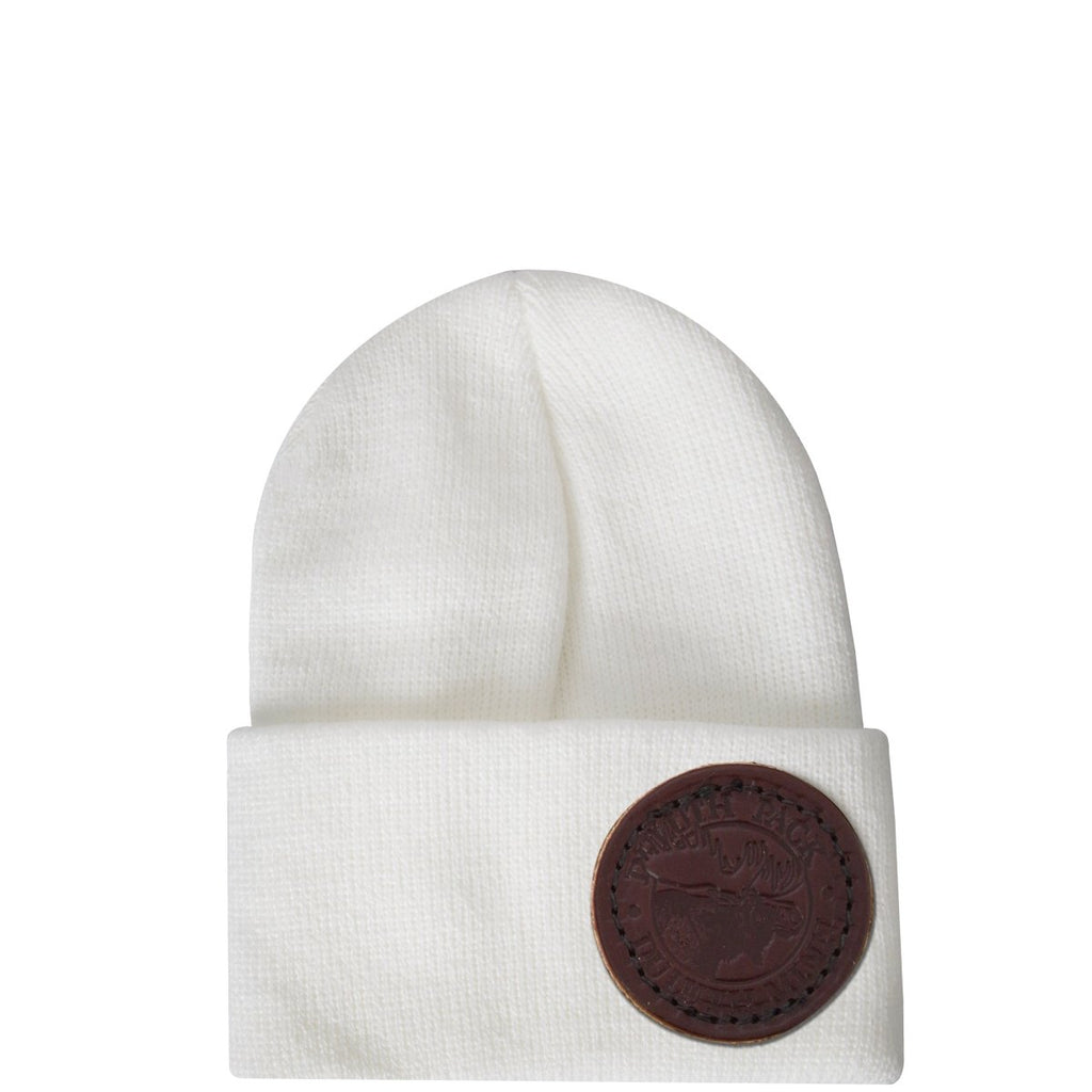 Infant Logo Beanie Apparel White - Duluth Pack Apparel