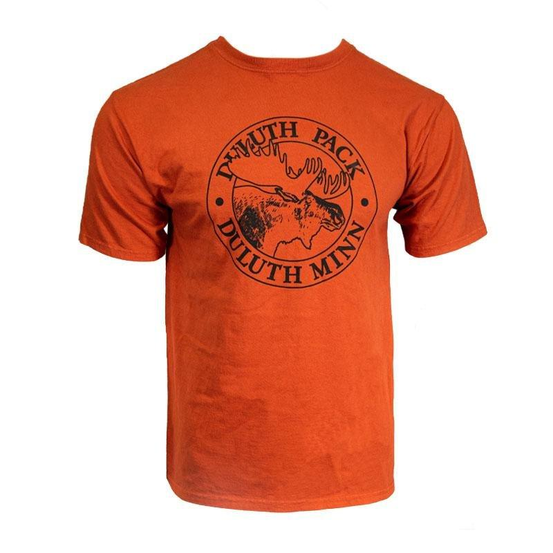 Inverted Logo Duluth Pack Logo T-Shirt - FINAL SALE Sale Small / Orange - Duluth Pack Apparel