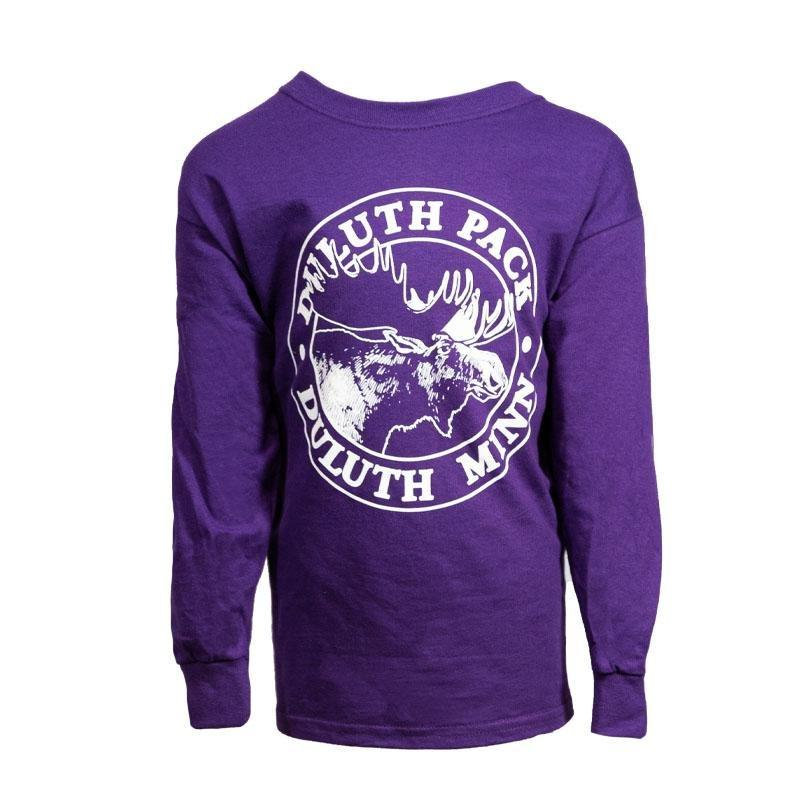 Kid's Duluth Pack Logo Long Sleeve Kids Clothing Dark Purple / Small - Duluth Pack Apparel