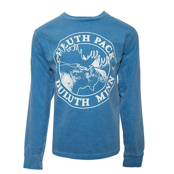 Kid's Duluth Pack Logo Long Sleeve Kids Clothing Blue / X-Small - Duluth Pack Apparel