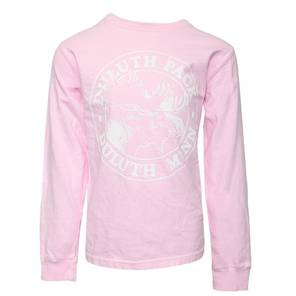 Kid's Duluth Pack Logo Long Sleeve Kids Clothing Pink / X-Small - Duluth Pack Apparel