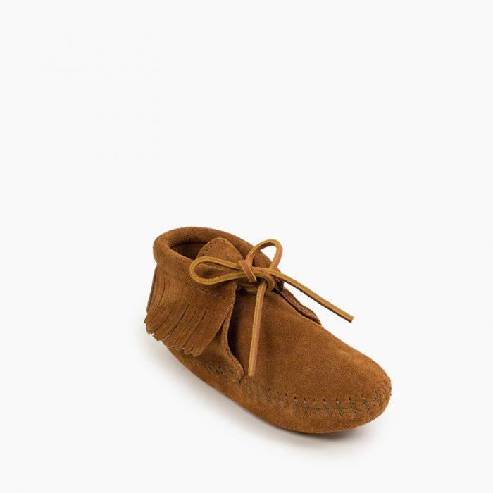 Kids' Fringe Boot Kids Footwear 1 - Minnetonka Moccasin