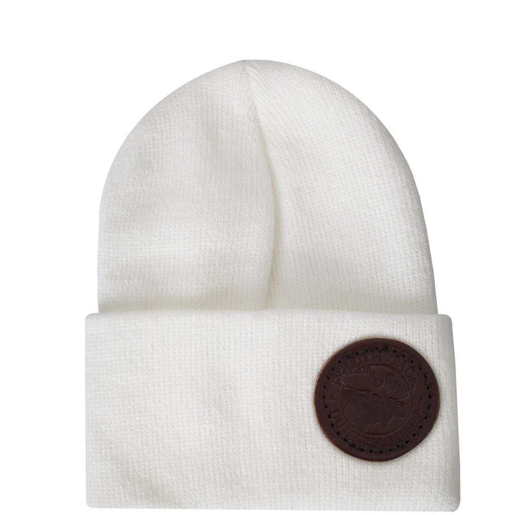 Kids Logo Beanie Apparel White - Duluth Pack Apparel