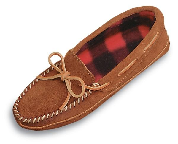 Men's Double Bottom Fleece Slipper Men's Footwear Brown / 8 - Minnetonka Moccasin