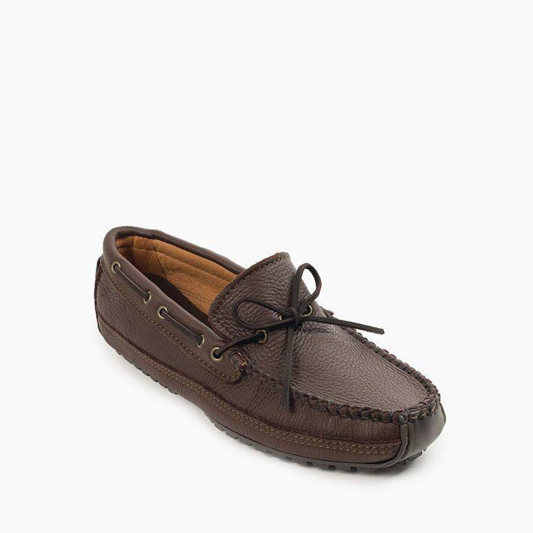 Men's Moosehide Weekend Moc Men's Footwear Chocolate / MD7 - Minnetonka Moccasin