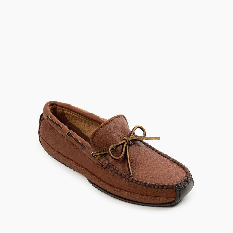 Men's Moosehide Weekend Moc Men's Footwear Caramel / MD7 - Minnetonka Moccasin