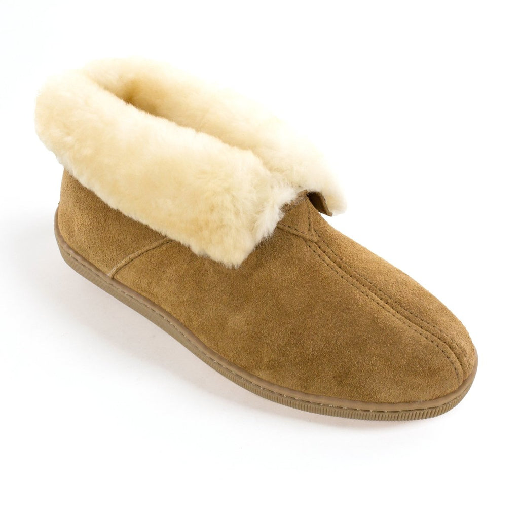 Men's Sheepskin Ankle Boot Apparel Tan / 7 - Minnetonka Moccasin