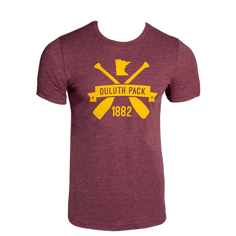 Minnesota Banner T-Shirt - FINAL SALE Apparel Maroon / Small - Duluth Pack Apparel