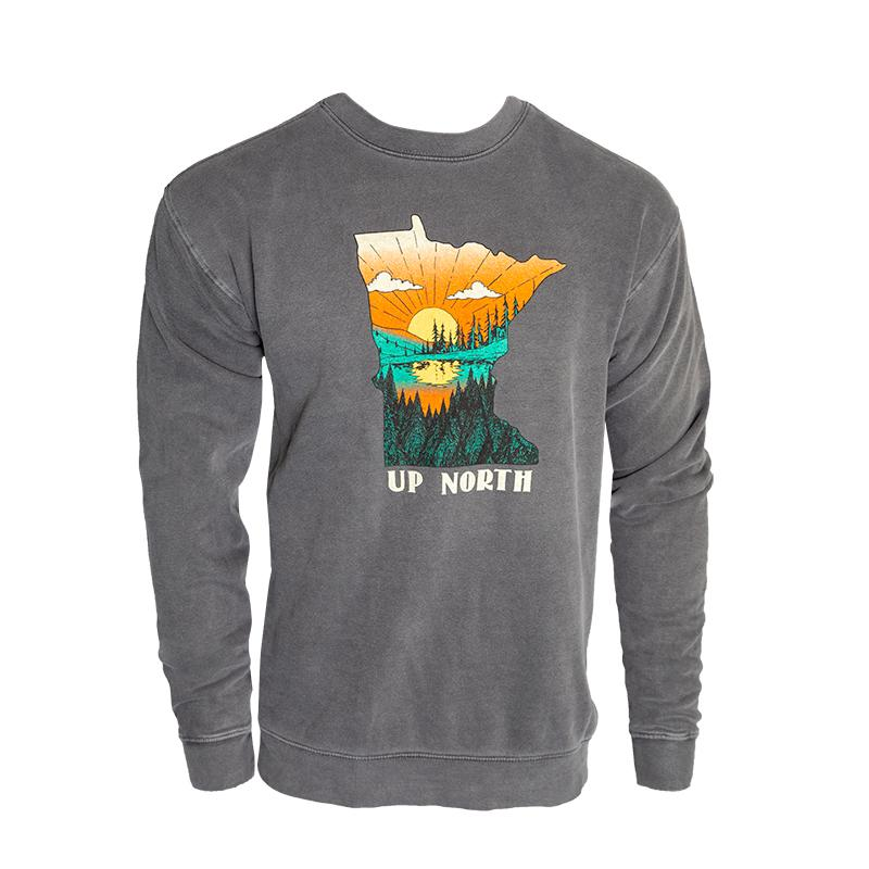 Minnesota Up North Crewneck Sweatshirt Apparel Small - Duluth Pack Apparel