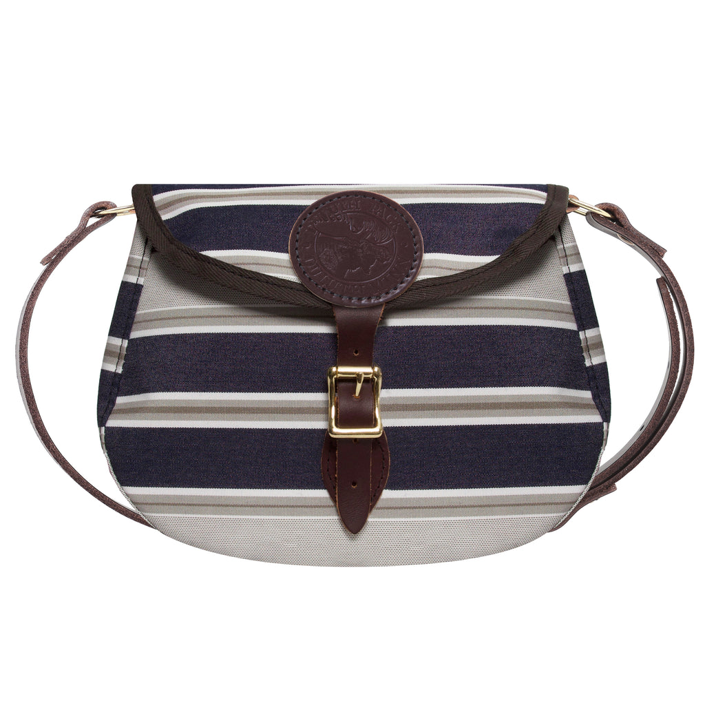 Sunbrella Medium Shell Purse Purse Navy Taupe Fancy - Duluth Pack