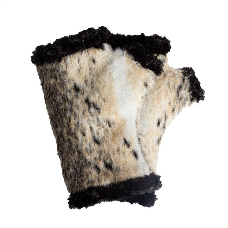 Polar Mitts Faux Animal Fingerless Gloves Gloves  - Polar