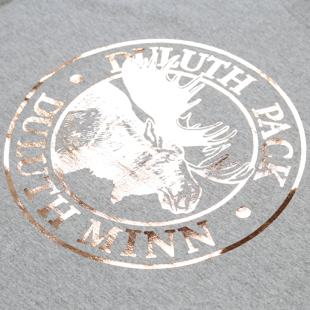 Rose gold foil on grey shirt