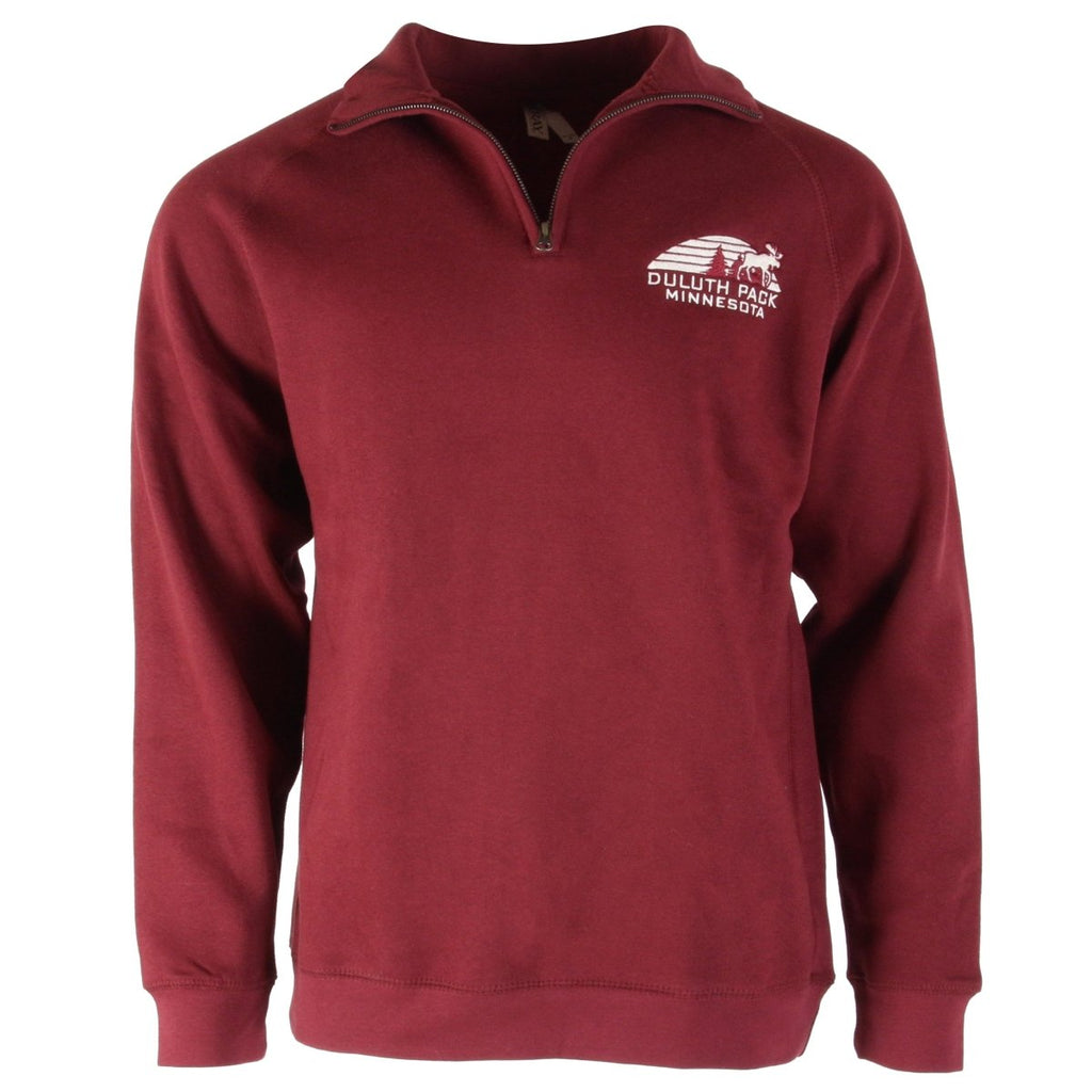Sunset 1/4 Zip Sweatshirt Apparel Maroon / Small - Duluth Pack Apparel