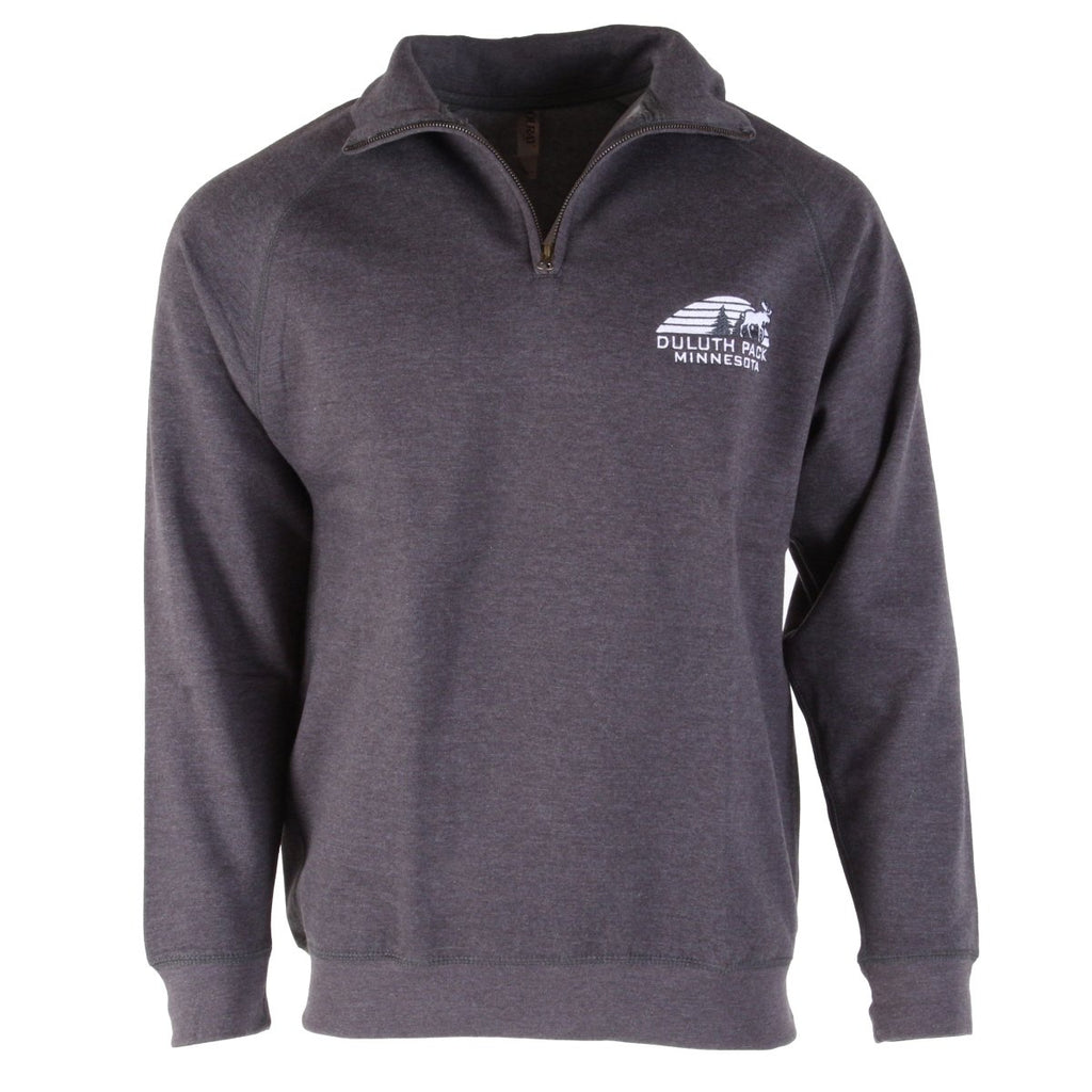Sunset 1/4 Zip Sweatshirt Apparel Grey / Small - Duluth Pack Apparel