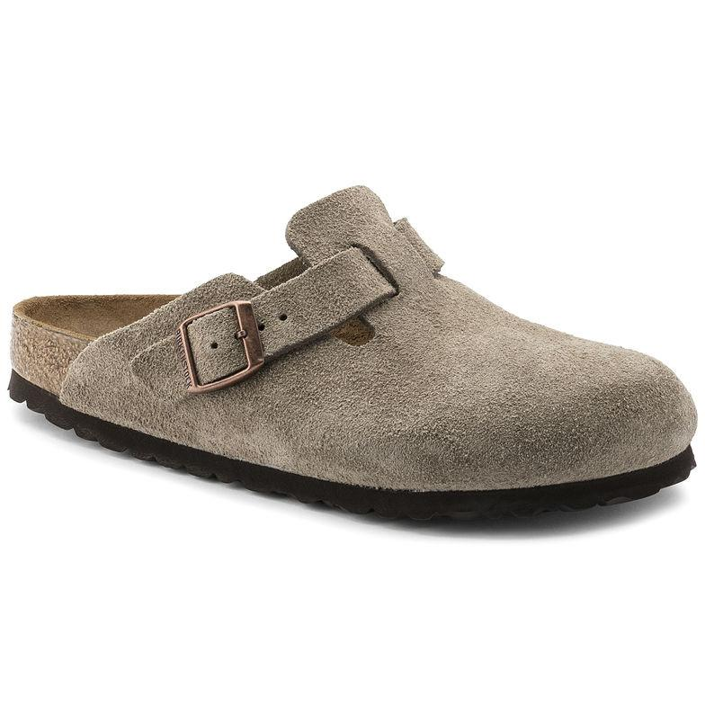 Unisex Boston Suede Leather Taupe Unisex Footwear Men's US 13/Women's US 15 - Birkenstock