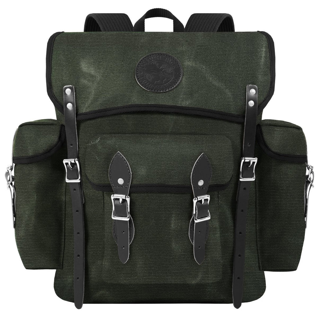 Wanderer Day Pack Waxed Olive Drab - Duluth Pack