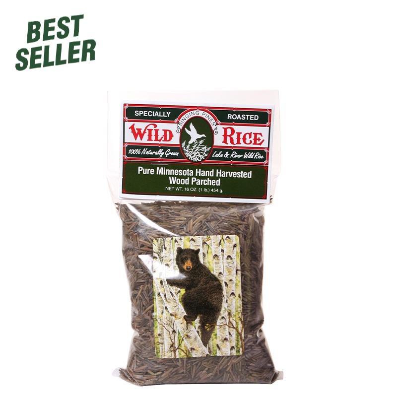 Wild Rice - Hand Harvested Wood Parched Wild Rice Food  - Singing Pines