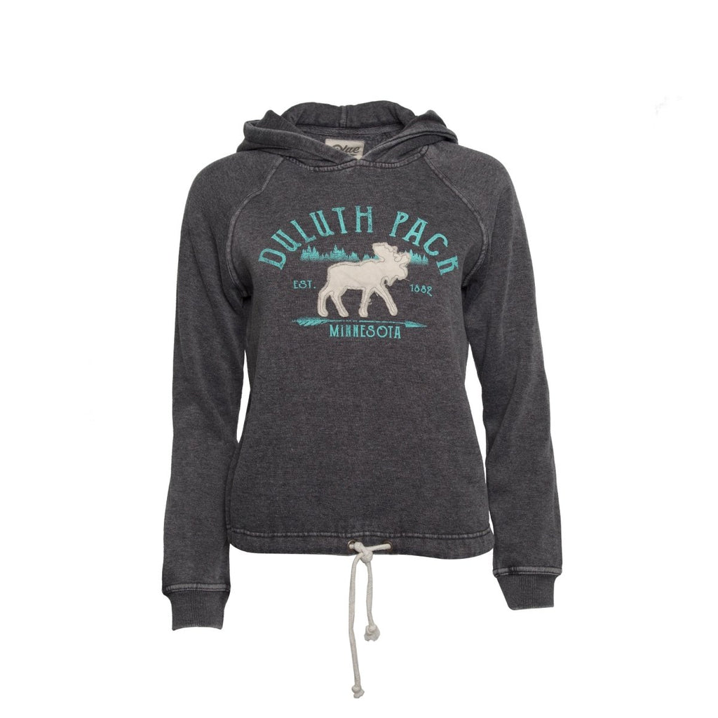 Women's Moose Tie Hoodie - FINAL SALE Apparel S - Duluth Pack Apparel