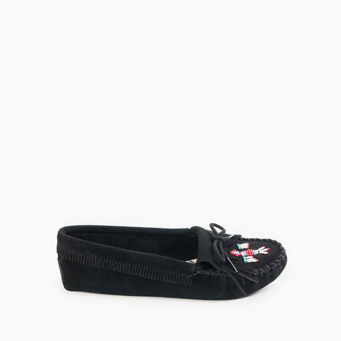 Women's Thunderbird Softsole Women's Footwear Black / 6 - Minnetonka Moccasin