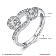 Load image into Gallery viewer, 925 Sterling Silver Ring Flower opening ring hand jewelry wholesale website factory direct