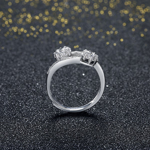 925 Sterling Silver Ring Flower opening ring hand jewelry wholesale website factory direct