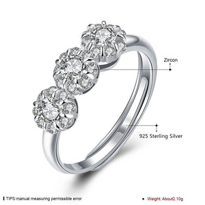 925 Sterling Silver Ring Flower type opening ring hand ornament wholesaler