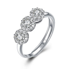 Load image into Gallery viewer, 925 Sterling Silver Ring Flower type opening ring hand ornament wholesaler