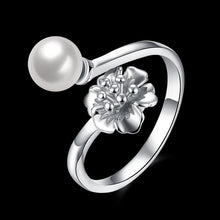 Load image into Gallery viewer, 925 Sterling Silver Ring Pearl ring hand jewelry wholesale website factory direct