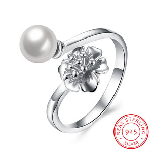 925 Sterling Silver Ring Pearl ring hand jewelry wholesale website factory direct