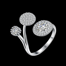 Load image into Gallery viewer, 925 Sterling Silver Ring Three round opening ring hand jewelry wholesale website factory direct