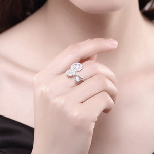 925 Sterling Silver Ring Three round opening ring hand jewelry wholesale website factory direct