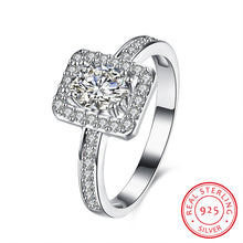 Load image into Gallery viewer, 925 Sterling Silver Ring Rectangular inlaid oval stone ring jewelry wholesalers