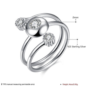 925 Sterling Silver Ring Sanshi Open Ring Jewelry Wholesale website Factory Direct selling