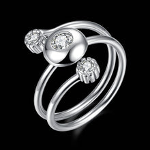 Load image into Gallery viewer, 925 Sterling Silver Ring Sanshi Open Ring Jewelry Wholesale website Factory Direct selling