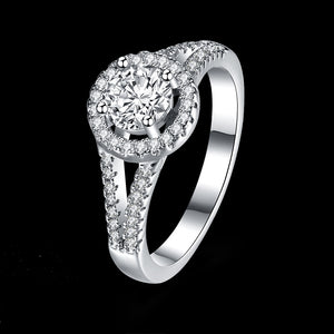 925 Sterling Silver Ring a wholesaler of double-wire round stone-inlaid rings