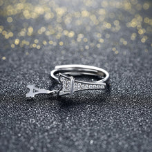 Load image into Gallery viewer, 925 Sterling Silver Ring Paris Tower Open Ring Jewelry Wholesale website Factory Direct