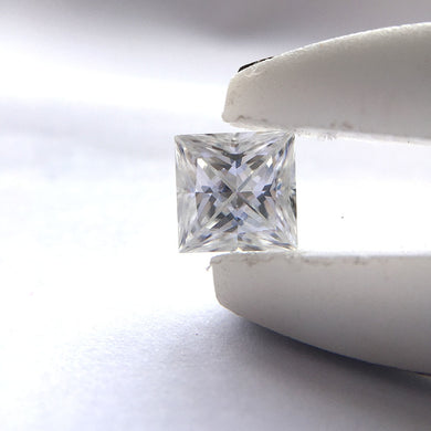 1 Carat DEF Princess 5.5mm Excellent Cut Moissanites Loose Stone for Lady's Engagement Rings Jewelry Making Test Postive
