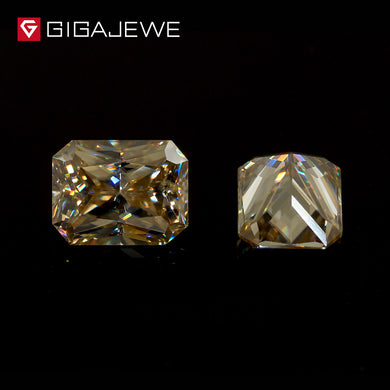 GIGAJEWE Yellow Color Moissanite Stone Radiant Cut perfectly square Hardness stone for Fashion Jewelry