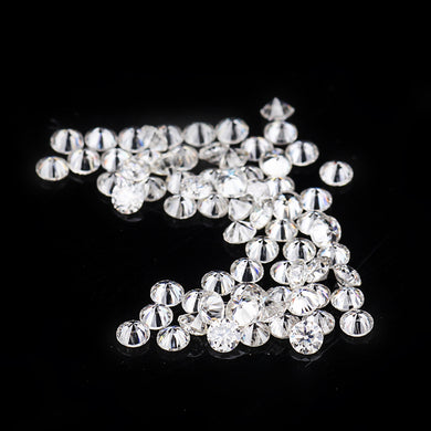 30pcs & 1.3mm white round brilliant cut synthetic stones small sizes moissanites wholesale gems