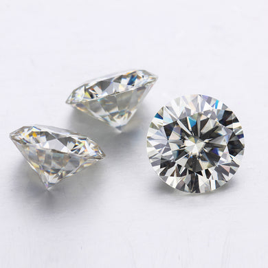 I/J near white lab created beads 2 carat 8mm loose stones moissanites gem