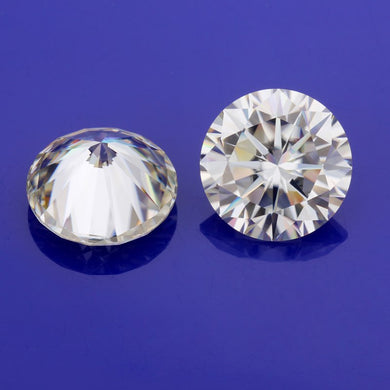 6mm off white gem stones lab created diamonds moissanites beads