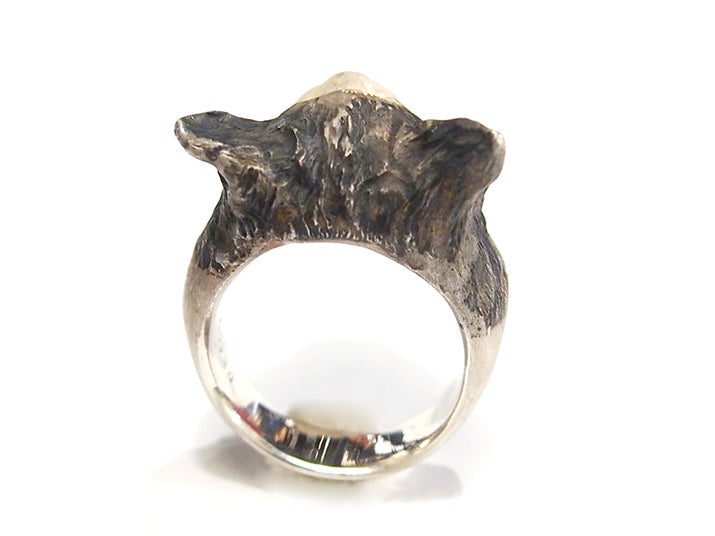 DECOvienya | Cat Ring silver | animal jewelry | 可愛動物首飾 貓戒指