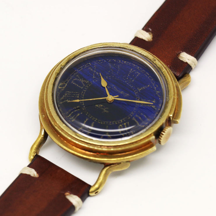 GENSO | Prussian Blue Roman Numeral Dial Watch | Original Handmade Watches from Japan