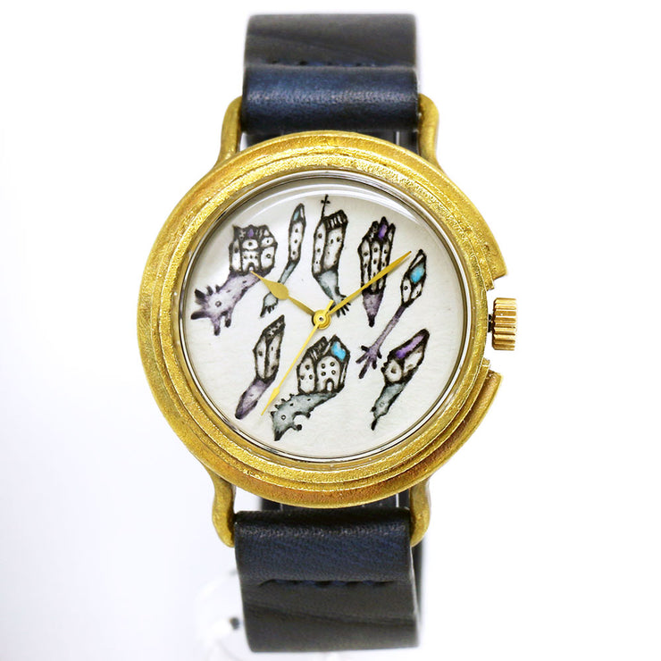 "Chrono Canvas Art Watch |  ""A Gathering in the Midnight"" by Ari Ogasawara × A Story Tokyo"