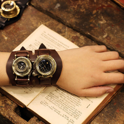 MEMORIES dual time Type Y | Steampunk camerawatch dual eye | 蒸汽朋克表